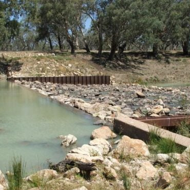 Tilpa Weir at Low Flow. Photo source: NSW DPI, 2006